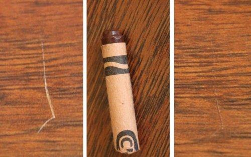 Восковой карандаш для шпона