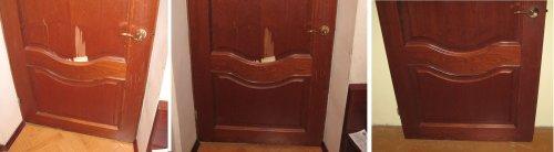 реставрация шпонированной двери