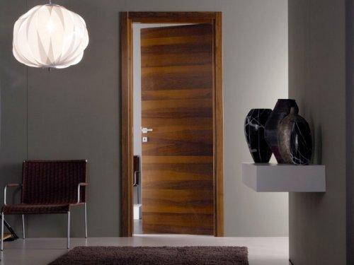 двери шпон в интерьере