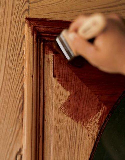 покраска шпонированной двери