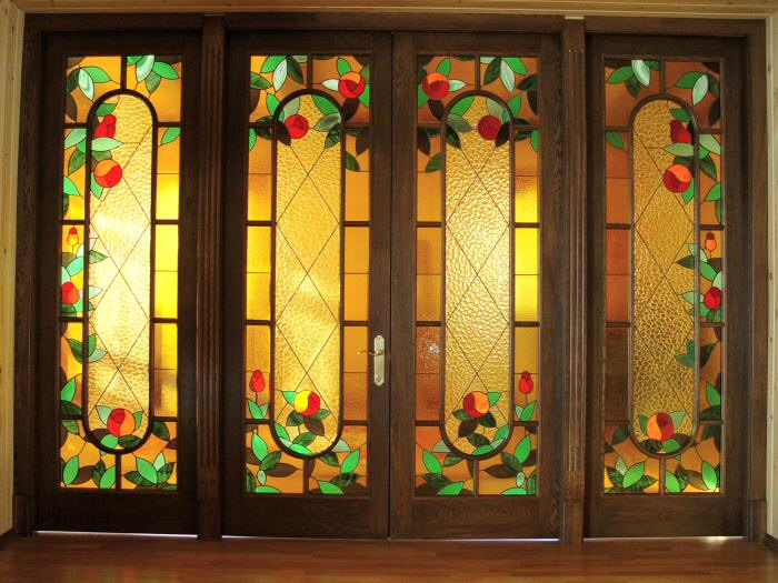 Витражная пленка на двери