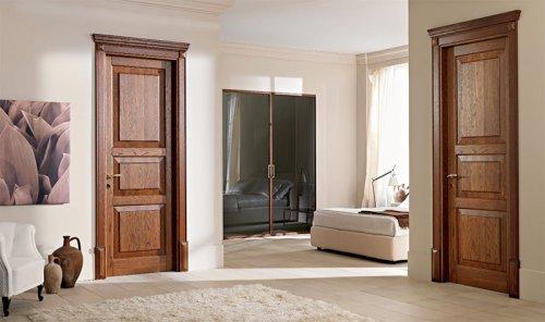 Филенчатая дверь в интерьере