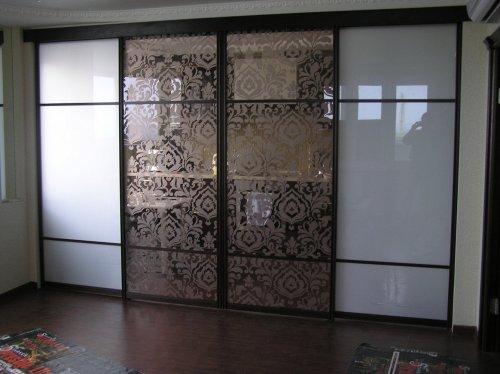 стеклянные двери купе в интерьере