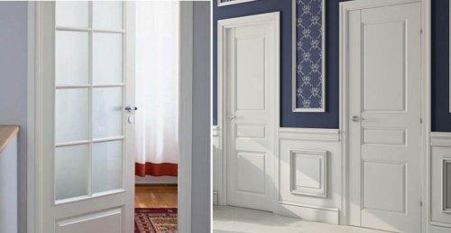 белые филёнчатые двери