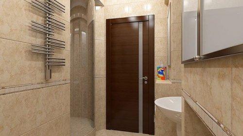 шпонированные двери в ванной