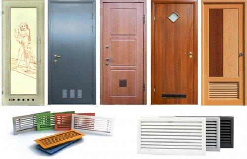 сантехнические двери с вентиляцией