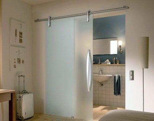 стеклянные двери в ванной