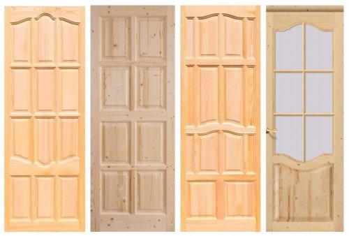 Двери из массива сосны под покраску
