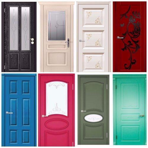 крашеные эмалевые двери