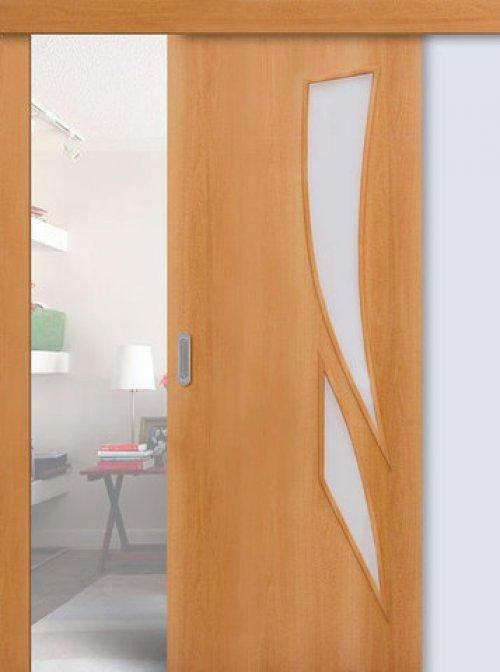 ламинированные раздвижные двери