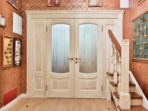 распашные двери двустворчатые