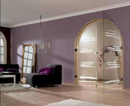 арочные стеклянные двери