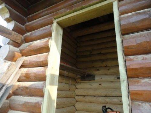 обсада окосячка в деревянном доме
