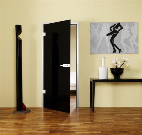 черные стеклянные двери в интерьере