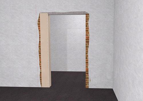 изменение размера дверного проема гипсокартоном