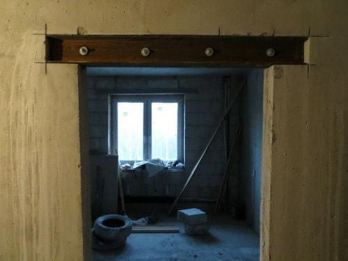 укрепление проема в несущей стене