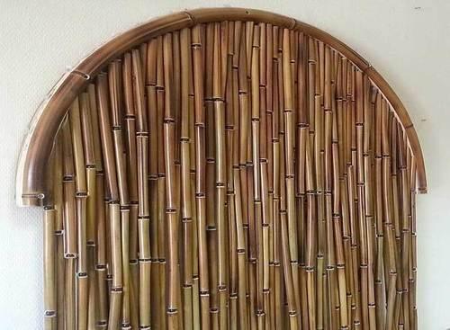 бамбуковые шторы на дверной проём