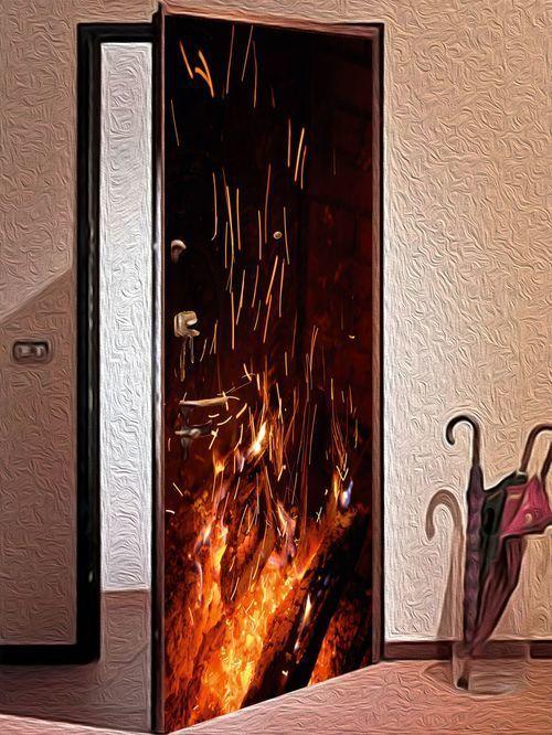 виниловые наклейки на двери