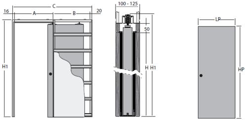 дверной пенал схема