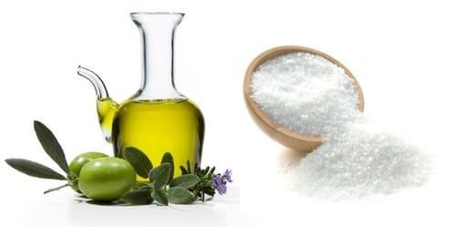 растительное масло и соль